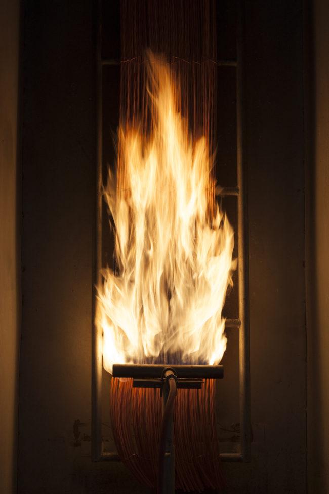 Vernice ignifuga e resistenza al fuoco : Firewall Testing Machine